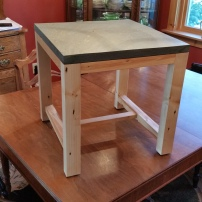 Slate-top Side Table