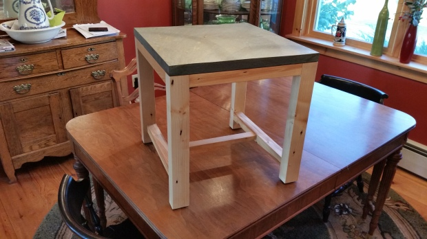 Slate-top Side Table