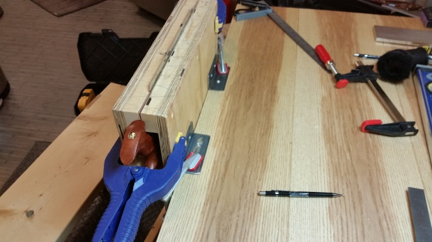 Not sure if I ever posted a picture of my Lie-Nielsen-style saw vise.