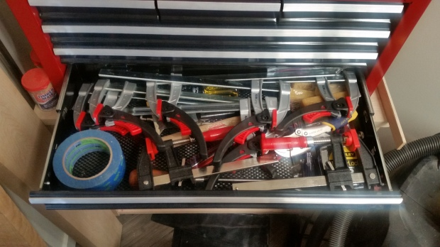 And clamps. Lots and lots of clamps.  Always more clamps.
