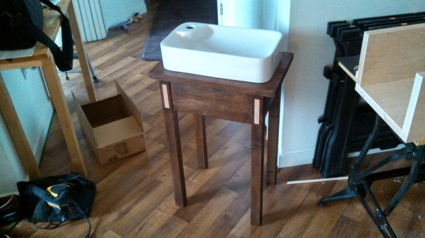 This is a vanity sink I built for my brother's first house.